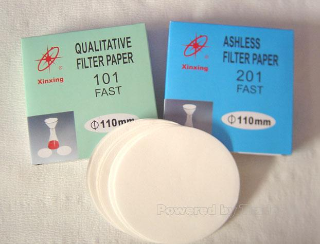 Chemical Analysis Filter Paper